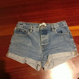 Forever 21 mom jeans denim shorts cuffed